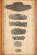 American Indian Art:Pottery, Collection of Seven Andean Bat Wing Pendants...