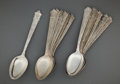 Silver Flatware, American:Gorham, A GORHAM SET OF FOURTEEN SILVER SERVING SPOONS . GorhamManufacturing Co., Providence, Rhode Island, circa 1871. Marks:(lio... (Total: 14 Items)