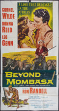 "Movie Posters:Adventure, Beyond Mombasa (Columbia, 1956). Three Sheet (41"" X 81"").Adventure.. ..."