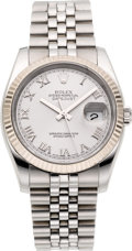 Timepieces:Wristwatch, Rolex Ref. 116234 Steel Oyster Perpetual Datejust With Gold Bezel,circa 2005. ...