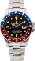 Timepieces:Wristwatch, Rolex Ref. 1675 Steel GMT-Master, circa 1977. ...