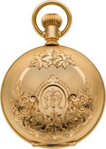 Timepieces:Pocket (pre 1900) , Columbus Choice 14k Gold Private Label Hunters Case, circa 1888. ...