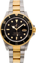 Timepieces:Wristwatch, Rolex Ref. 16803, Two Tone Submariner, circa 1987. ...