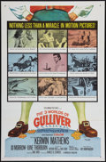 "Movie Posters:Fantasy, The 3 Worlds of Gulliver (Columbia, 1960). One Sheet (27"" X 41""). Fantasy.. ..."