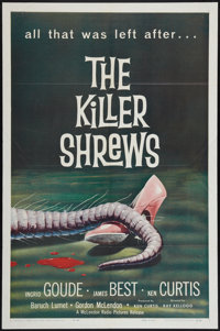 """The Killer Shrews (McLendon Radio Pictures, 1959). One Sheet (27"""" X 41""""). Science Fiction"""