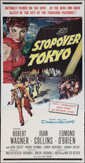"""Movie Posters:Thriller, Stopover Tokyo and Other Lot (20th Century Fox, 1957). Three Sheets (2) (41"""" X 81""""). Thriller.. ... (Total: 2 Items)"""