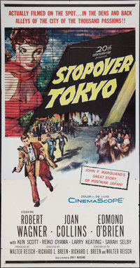 "Stopover Tokyo and Other Lot (20th Century Fox, 1957). Three Sheets (2) (41"" X 81""). Thriller. ... (Total: 2 I..."