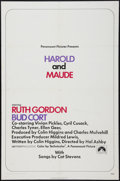 "Movie Posters:Comedy, Harold and Maude (Paramount, 1971). One Sheet (27"" X 41""). Comedy.. ..."
