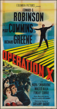 "Operation X (Columbia, 1950). Three Sheet (41"" X 81""). Drama"