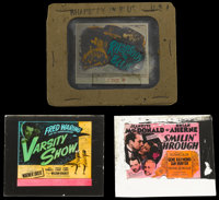 """Smilin' Through and Others Lot (MGM, 1941). Glass Slides (2) 2.5"""" X 3"""" without original holders) and (1) (3.25..."""