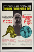 "Movie Posters:Science Fiction, Planet of the Apes/Beneath the Planet of the Apes Combo (20th Century Fox, R-1971). One Sheet (27"" X 41""). Science Fiction...."