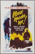 """Movie Posters:Crime, Please Murder Me & Other Lot (DCA, 1956). One Sheets (2) (27"""" X 41""""). Crime.. ... (Total: 2 Items)"""