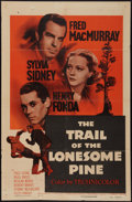 "Movie Posters:Drama, The Trail of the Lonesome Pine (Paramount, R-1955). One Sheet (27"" X 41""). Drama.. ..."