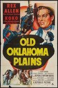 """Movie Posters:Western, Old Oklahoma Plains & Other Lot (Republic, 1952). One Sheets (2) (27"""" X 41""""). Western.. ... (Total: 2 Items)"""