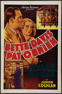 "Hell's House (Astor, R-1937). One Sheet (27"" X 41""). Crime"