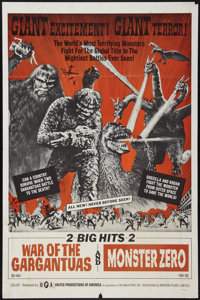 "War of the Gargantuas/Monster Zero Combo (UPA, 1966). One Sheet (27"" X 41""). Science Fiction"