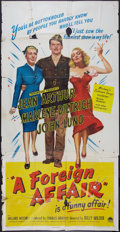 "Movie Posters:Comedy, A Foreign Affair (Paramount, 1948). Three Sheet (41"" X 81""). Comedy.. ..."