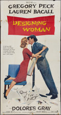 "Movie Posters:Comedy, Designing Woman (MGM, 1957). Three Sheet (41"" X 81""). Comedy.. ..."