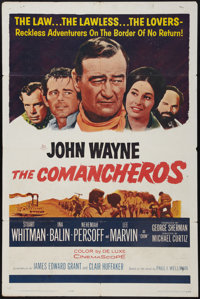 "The Comancheros (20th Century Fox, 1961). One Sheet (27"" X 41""). Western"