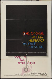 "Love in the Afternoon (Allied Artists, 1957). One Sheet (27"" X 41""). Romance"