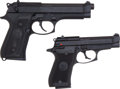 Handguns:Semiautomatic Pistol, Lot of Two Beretta Semi-Automatic Pistols....