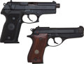 Handguns:Semiautomatic Pistol, Lot of Two Beretta 86B and 8045 Semi-Automatic Pistols....