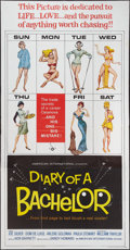 "Movie Posters:Comedy, Diary of a Bachelor and Other Lot (American International, 1964). Three Sheets (2) (41"" X 81""). Comedy.. ... (Total: 2 Items)"