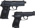 Handguns:Semiautomatic Pistol, Lot of Two Beretta 85F and 8045 Semi-Automatic Pistols....