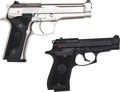 Handguns:Semiautomatic Pistol, Lot of Two Beretta 92 Steel-I and 85 Semi-Automatic Pistols....