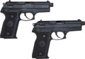 Handguns:Semiautomatic Pistol, Lot of Two (2) Consecutively Numbered Beretta Model 8045 Cougar Semi-Automatic Pistols....