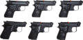 Handguns:Semiautomatic Pistol, Lot of Six (6) Beretta Model 950 Jetfire .25ACP Consecutively Numbered Semi-Automatic Pistols....