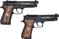 Handguns:Semiautomatic Pistol, Beretta Lot (2)-M9 Limited Edition 9mm Semi-Automatic Pistol WithDisplay Case....