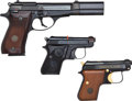 Handguns:Semiautomatic Pistol, Lot of Three Beretta Semi-Automatic Pistols....