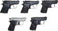 Handguns:Semiautomatic Pistol, Lot of 5 Beretta M20 and 950 Semi-Automatic Pistols....