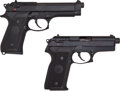Handguns:Semiautomatic Pistol, Beretta Lot (2) Models 8045 & 92SF.45 & 9mm Semi-AutoPistols....