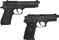 Handguns:Semiautomatic Pistol, Beretta Lot (2) Models 8045 and 92F .45 and 9mm Semi-Auto Pistols....