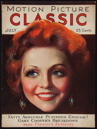 """Motion Picture Classic (Motion Picture Publications, July, 1931). Magazine (Multiple Pages, 8""""75"""" X 11.5""""..."""