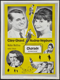 """Charade (Universal, 1963). Canadian Poster (18"""" X 24.25""""). Mystery"""