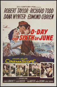 """D-Day The Sixth of June (20th Century Fox, 1956). One Sheet (27"""" X 41""""). War"""