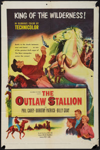 """Outlaw Stallion and Other Lot (Columbia, 1954). One Sheets (2) (27"""" X 41""""). Western. ... (Total: 2 Items)"""
