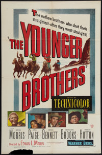 "The Younger Brothers and Other Lot (Warner Brothers, 1949). One Sheets (2) (27"" X 41""). Western. ... (Total: 2..."