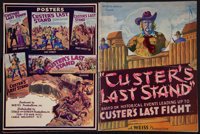 "Custer's Last Stand (Stage and Screen Productions, 1936). Uncut Pressbook (40 pages, 9"" X 12""). Adventure"
