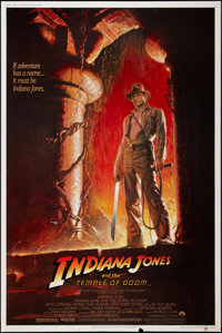 "Indiana Jones and the Temple of Doom (Paramount, 1984). Poster (40"" X 60""). Adventure"