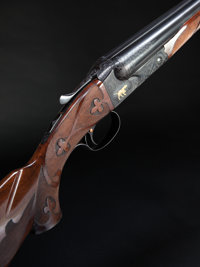 *12 Gauge Winchester Model 21 Double Barrel Shotgun with Gold Inlays - Three Barrel and Two Fore-end Set