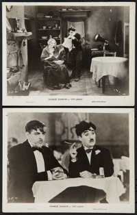 """City Lights (United Artists, 1931). Photos (2) (8"""" X 10""""). Comedy. ... (Total: 2 Items)"""