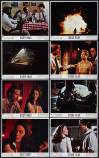 "Body Heat (Warner Brothers, 1981). Mini Lobby Card Set of 8 (8"" X 10""). Film Noir. ... (Total: 8 Items)"