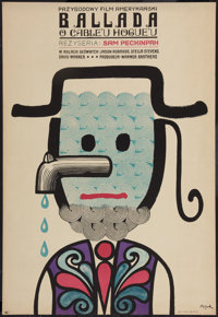 "The Ballad of Cable Hogue (CWF, 1972). Polish One Sheet (22.75"" X 33""). Western"