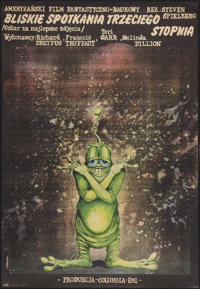 """Close Encounters of the Third Kind (ZRF, 1979). Polish One Sheet (26.5"""" X 38.25""""). Science Fiction"""