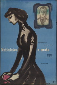 "Marriage in the Shadows (CWF, 1955). Polish One Sheet (23"" X 34""). Drama"
