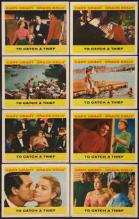 """To Catch a Thief (Paramount, 1955). Lobby Card Set of 8 (11"""" X 14""""). Hitchcock. ... (Total: 8 Items)"""